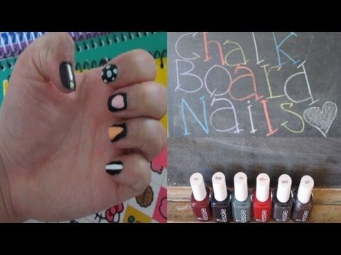 Back To School: Chalkboard Nails + GIVEAWAY!