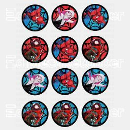 Spider Man Into the Spider-Verse Edible Cupcake Toppers (12 Images) Cake Image Icing Sugar Sheet Edible Cake Images #pictureplacemeant