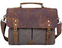 Herren Damen Aktentasche Ecosusi Bag Messenger Umhängetasche dCBroeWx