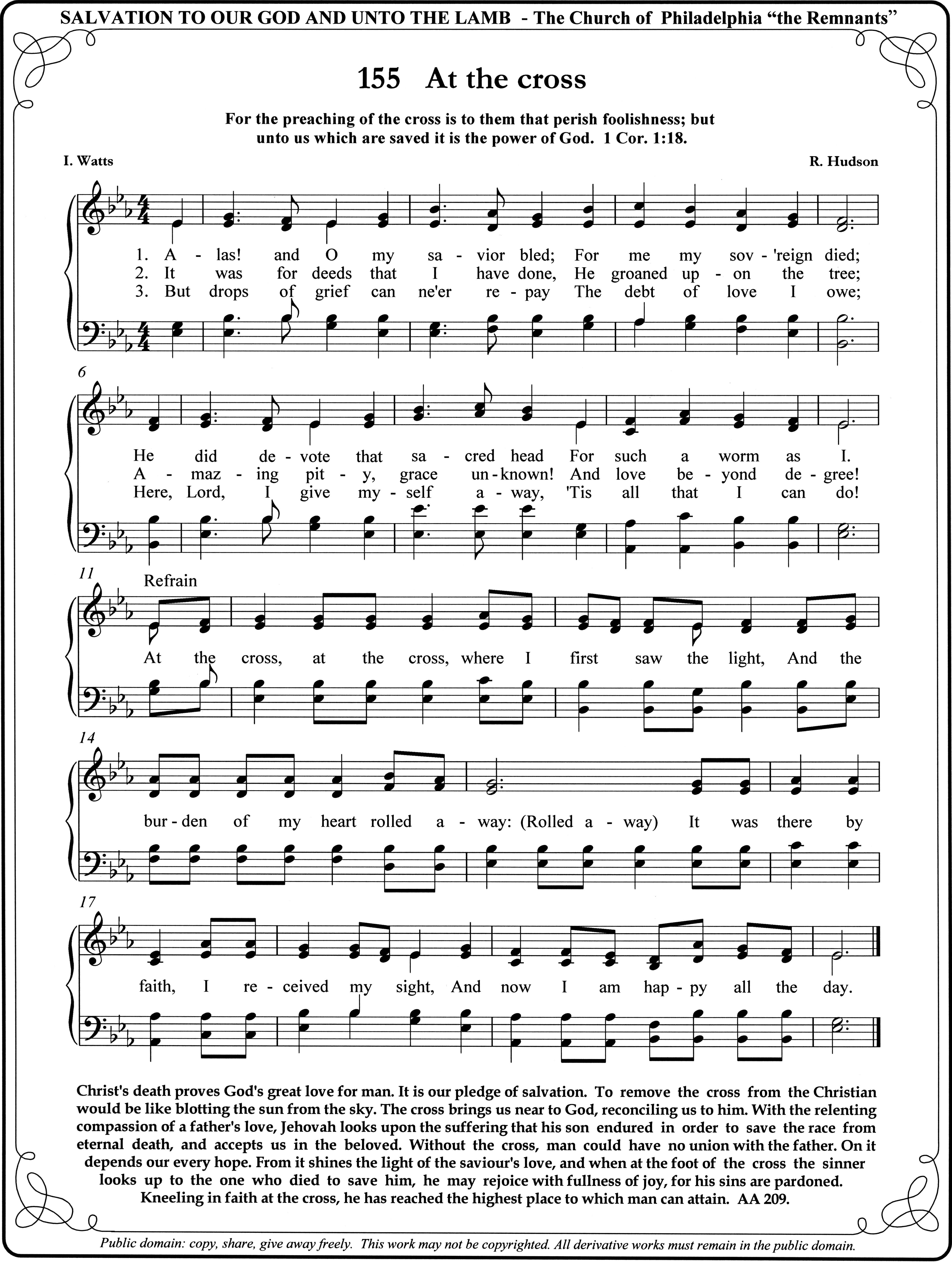 Old Hymn my family sang many times in Church    Still love it, At