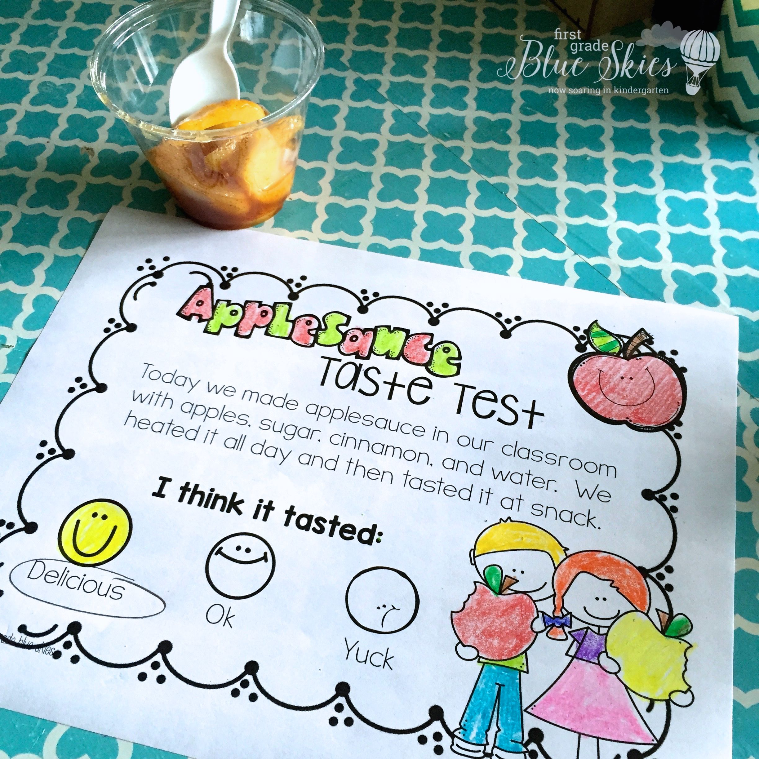 Apple Ideas for Teachers and Letters R-U - First Grade Blue Skies ...