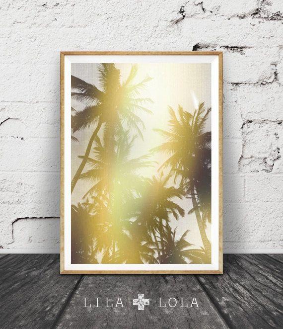 Tropical Wall Art Print, Palm Trees Photo, Modern Wall Art, Tropical ...