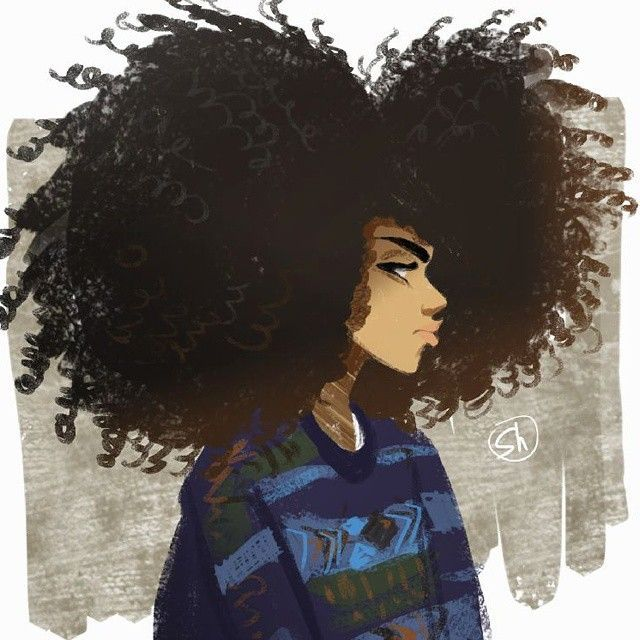 55 Amazing Black Hair Art Pictures And Paintings Afro Art