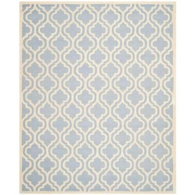 Safavieh Cambridge Light Blue/Ivory 10 ft. x 14 ft. Area Rug-CAM132A-10 - The Home Depot