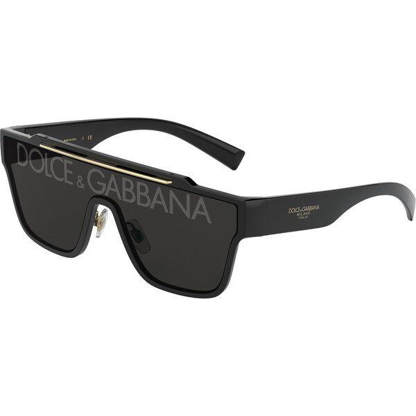 Dolce & Gabbana DG6125 501 / M, Plastic, Black, Sunglasses