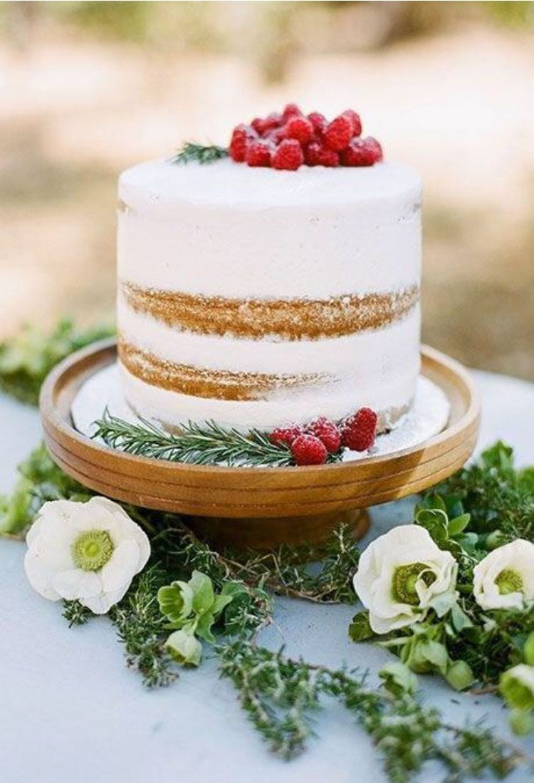 Simple Rustic One Tier Wedding Cake That Special Day