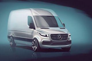 Teknolut Mercedes Bocorkan Desain Sprinter 2018 Yang Lebih Mercedes Benz Volkswagen Mercedes