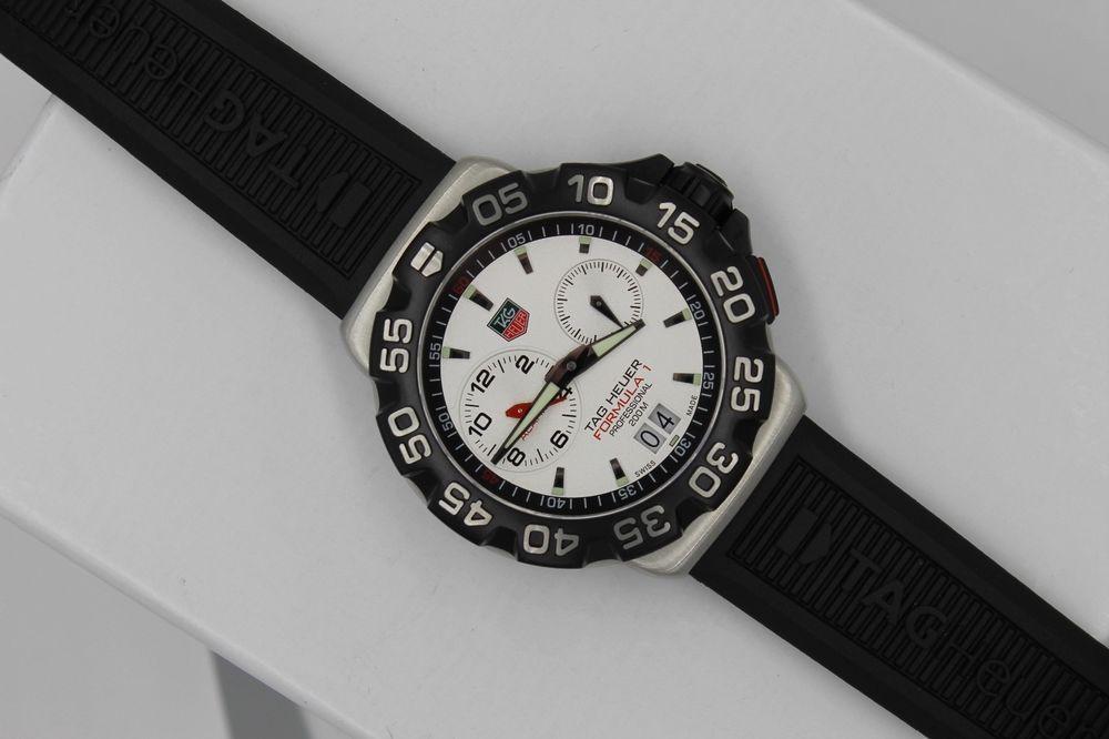 Tag Heuer NEW WAH111B.BT0714 NWT Formula 1 F1 Silver Watch Mens Alarm Mint BOX