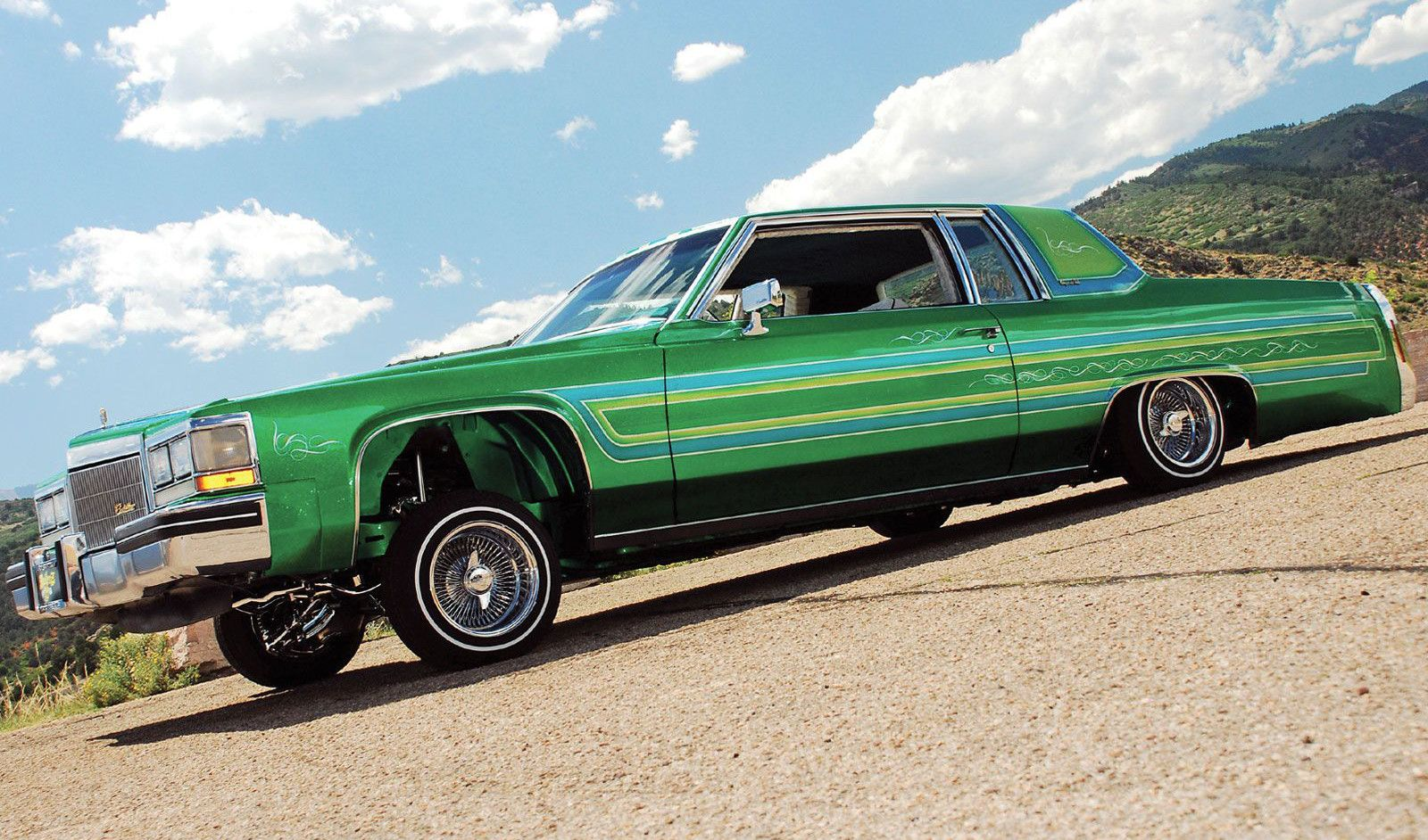 Green 1984 Cadillac Coupe Deville Lowrider Picture HD