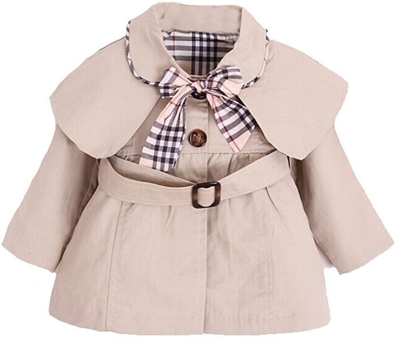 89cc257c7 Amazon.com  Kids Baby Girl Spring Autumn Trench Coat Fashion Wind ...