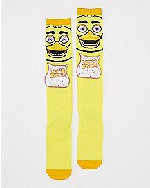 ef9f3a332e6 Chica Knee High Socks - Five Nights At Freddy s