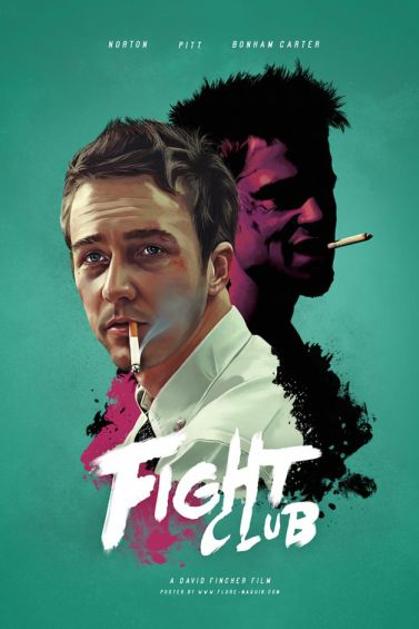 Hollywood Movie Posters Redesigned Movie Posters Design Fight Club Poster Classic Movie Posters
