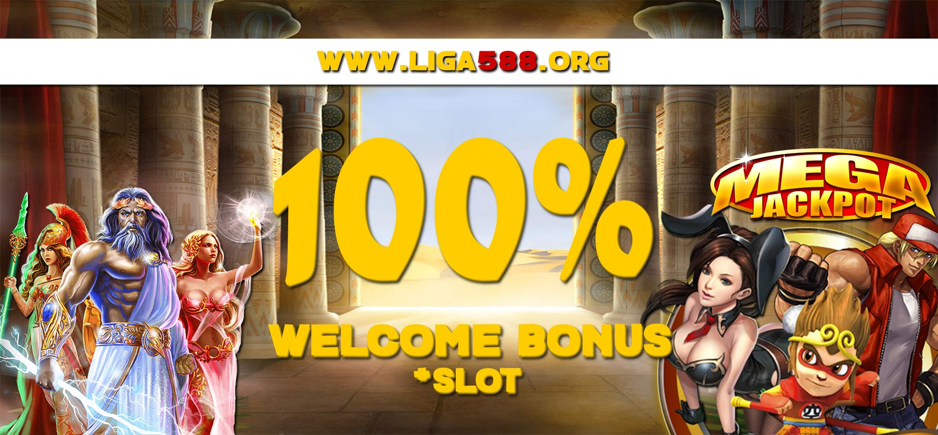 Promo Welcome Bonus Slot 100 Liga588