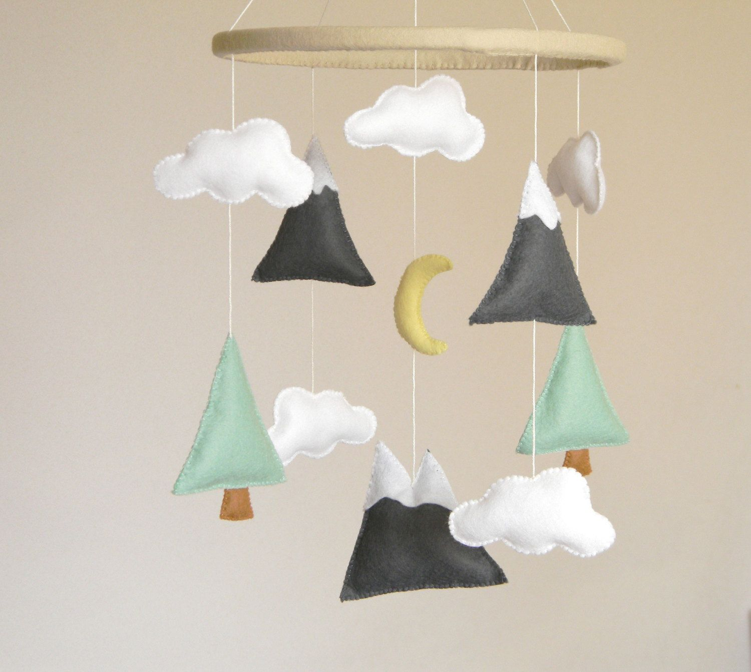 Mountains Baby Mobile Crib Modern Nursery