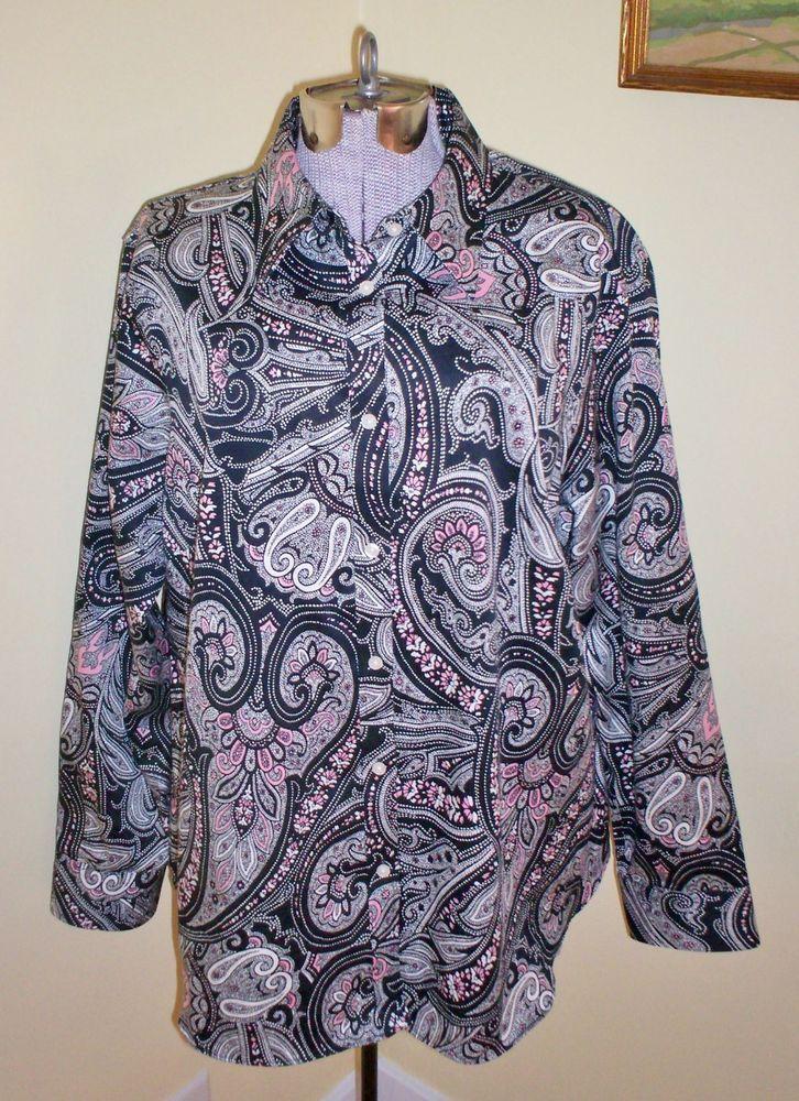 ed821c2fb42895 Women's Plus Size 1X Chaps Blouse Top Shirt 50