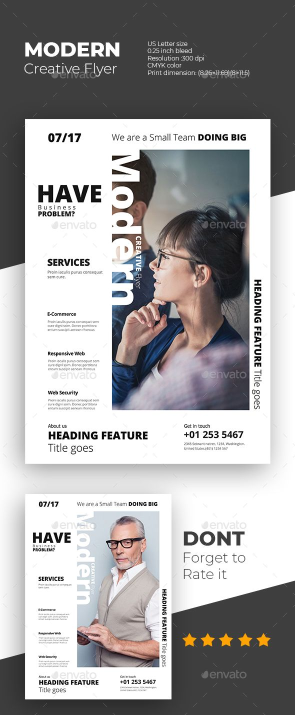 Modern Creative Flyer Design Template PSD Download here