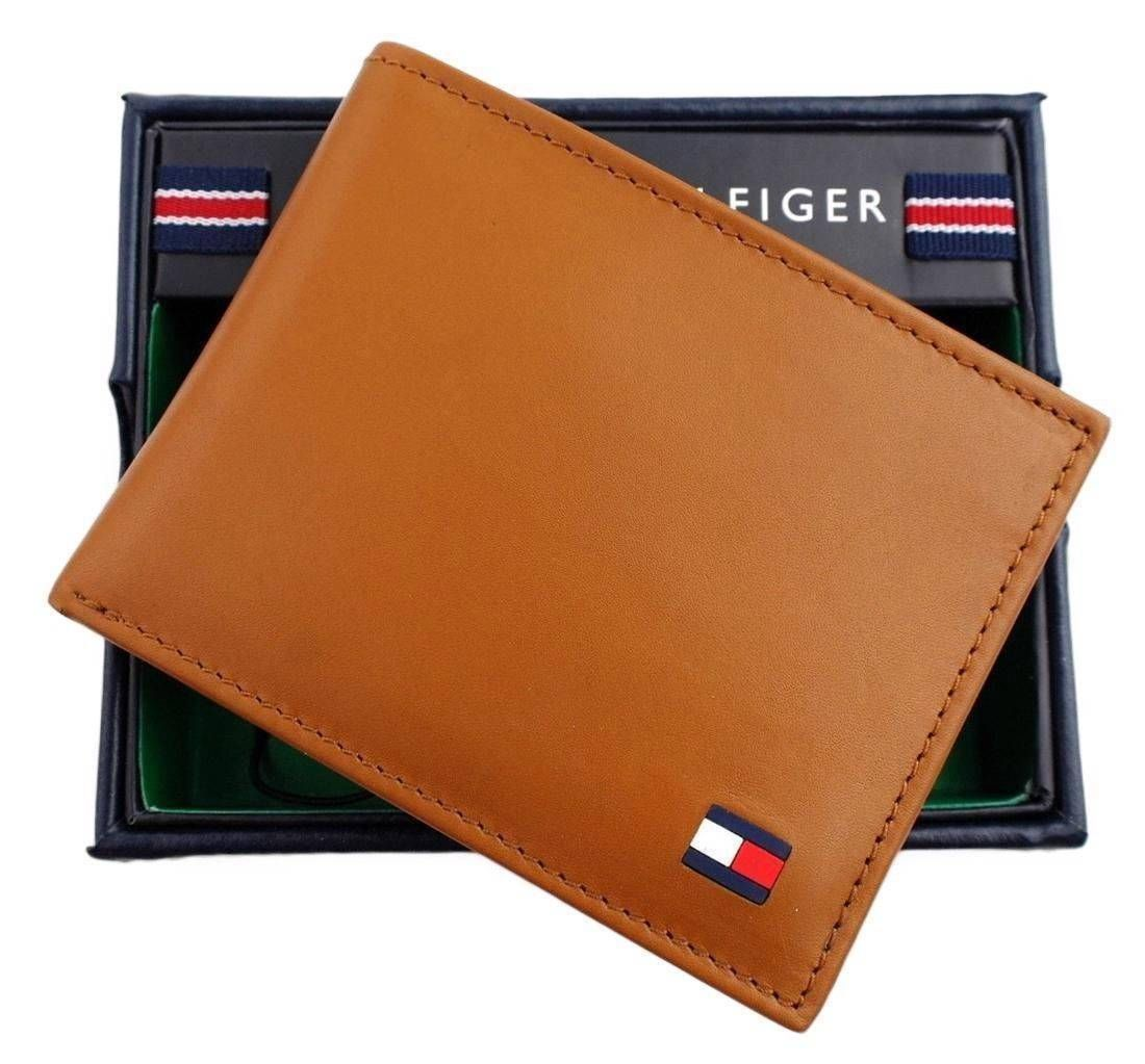 2499 only tommy hilfiger mens premium leather credit
