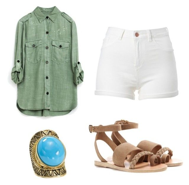 """""""Untitled #344"""" by izzy66 ❤ liked on Polyvore featuring Aqua and Ancient Greek Sandals"""