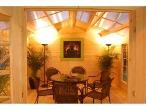 Lusthus WILMA 13,9 m2 | skruvpålar, skruvpålning, grundning