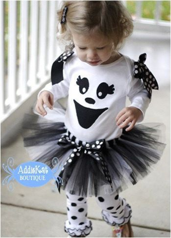 Boutique Ghost Halloween Tutu Costume Outfit