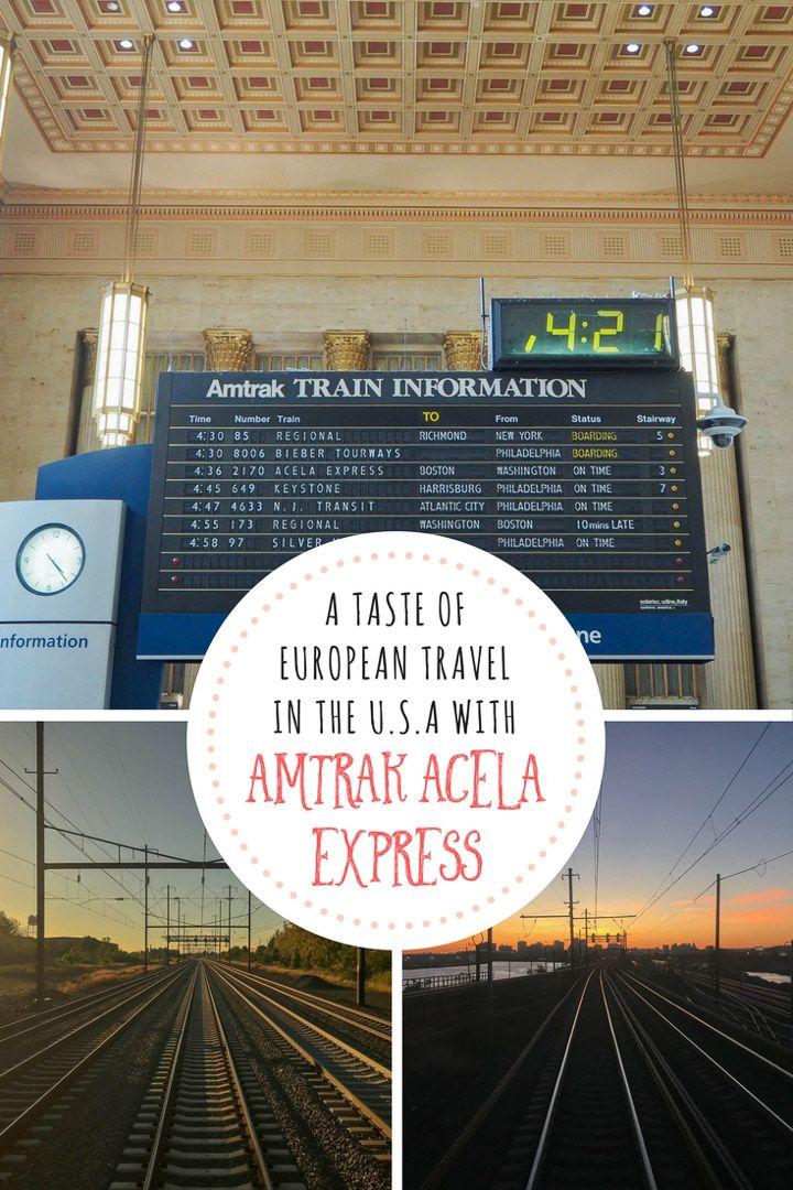 Taste of European Travel in US: Amtrak\'s Acela Express | Pinterest