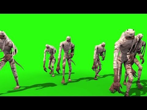 Green Screen Hordes Mummies Walking Egypt Pharaohs - Footage PixelBoom - YouTube