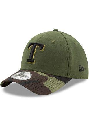 afaf57d1200 New Era Texas Rangers Mens Green 2017 Memorial Day 39THIRTY Flex Hat ...