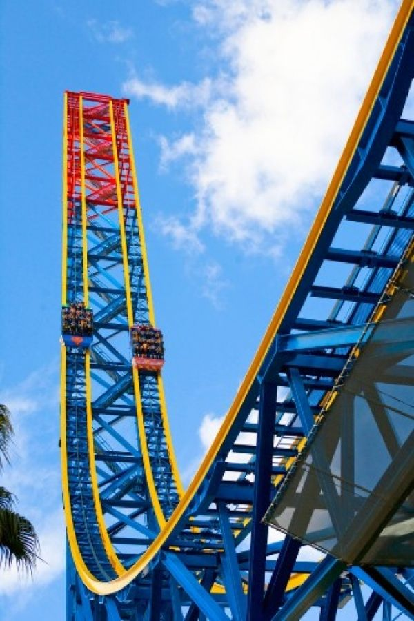 United States Of America Superman Escape From Krypton Ride Crazy Roller Coaster Six Flags Roller Coaster
