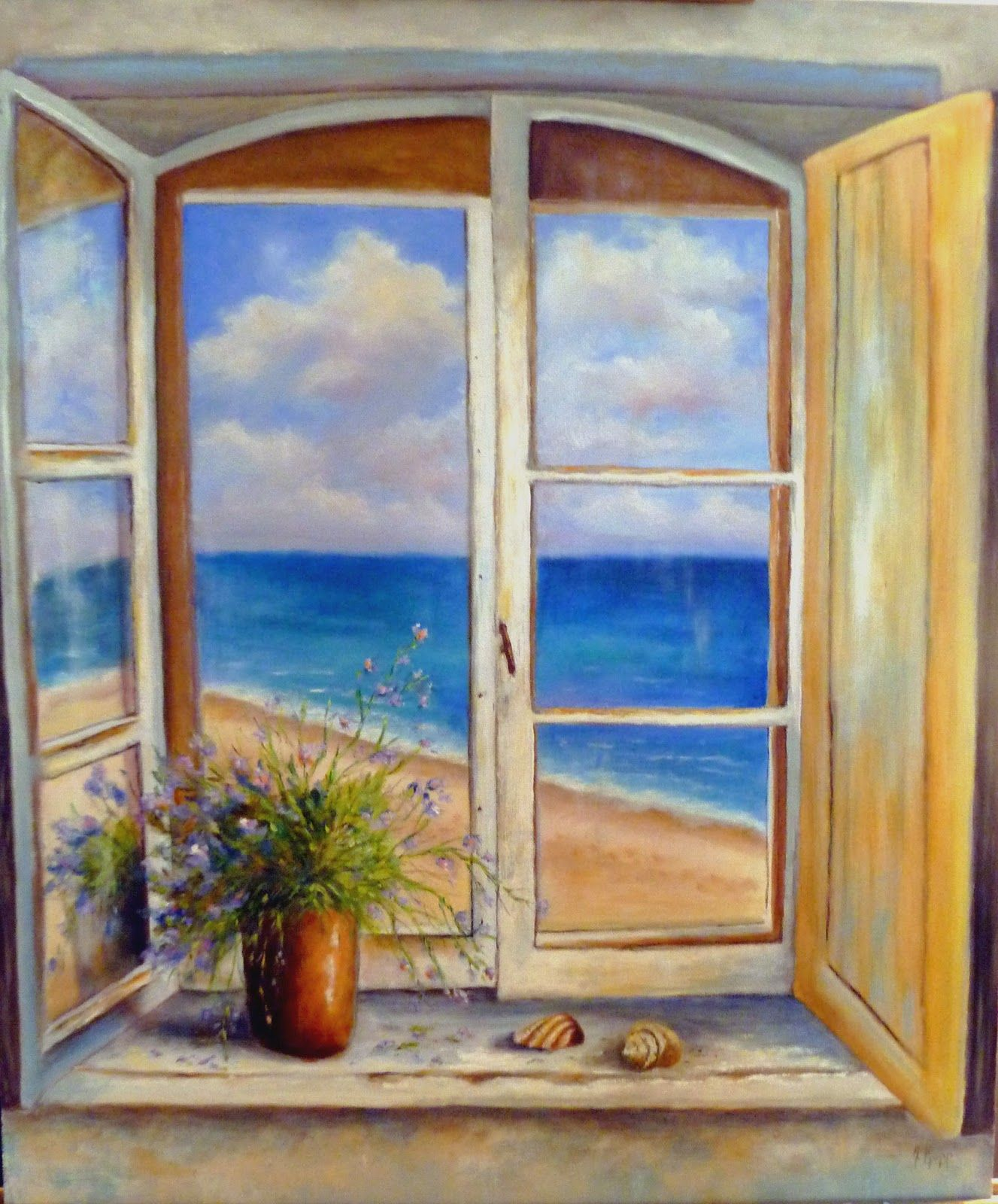 paintings of windows looking out | Friday, January 11, 2013 ...