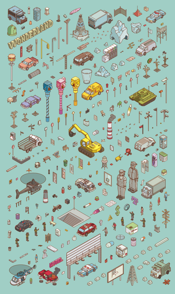 Chaos City by Miquel Tura Rigamonti, via Behance