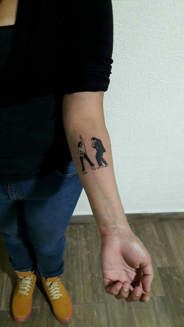 2edb91ba66e66 Tattoo, Pulp fiction dance escene | body art | Pulp fiction tattoo ...