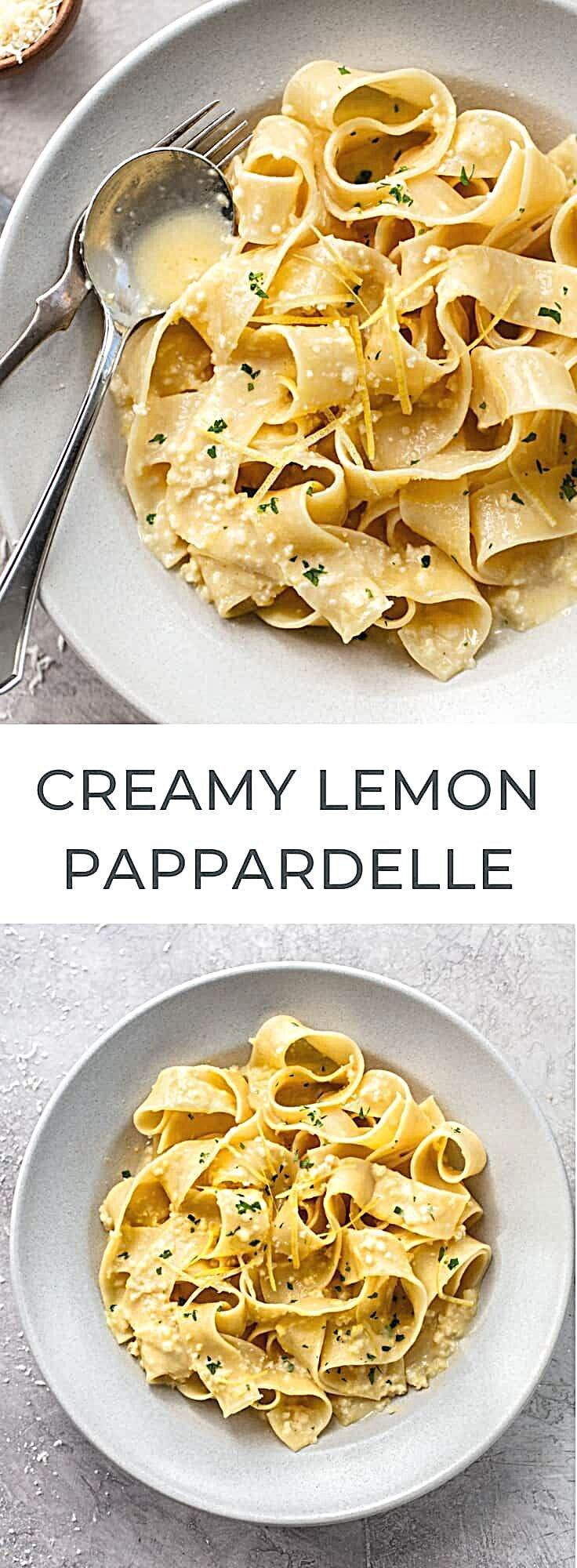 Pappardelle al Limone is an easy and QUICK creamy lemon pasta recipe you'll make again and again: Wi...