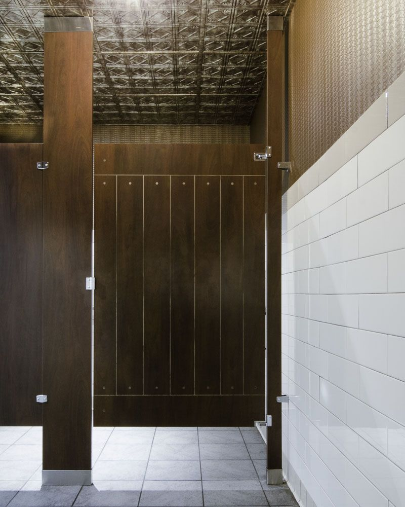 Ironwood Manufacturing Wood Veneer Toilet Partitions And Bathroom Doors  With Engraving. Beautiful, Upscale Public