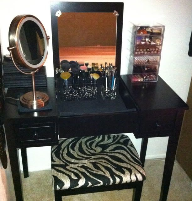 New Vanity SetupNew Vanity Setup   makeup organization   Pinterest   Vanities  . Makeup Vanity Set Cheap. Home Design Ideas