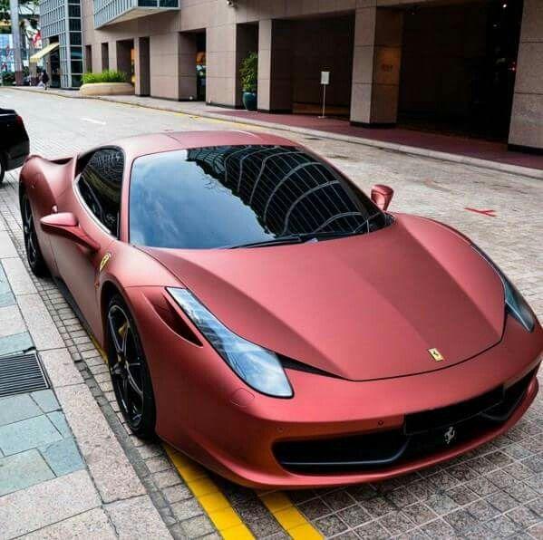Matte Red Ferrari 458 Italia Super Cars Sports Cars Luxury Car Wheels