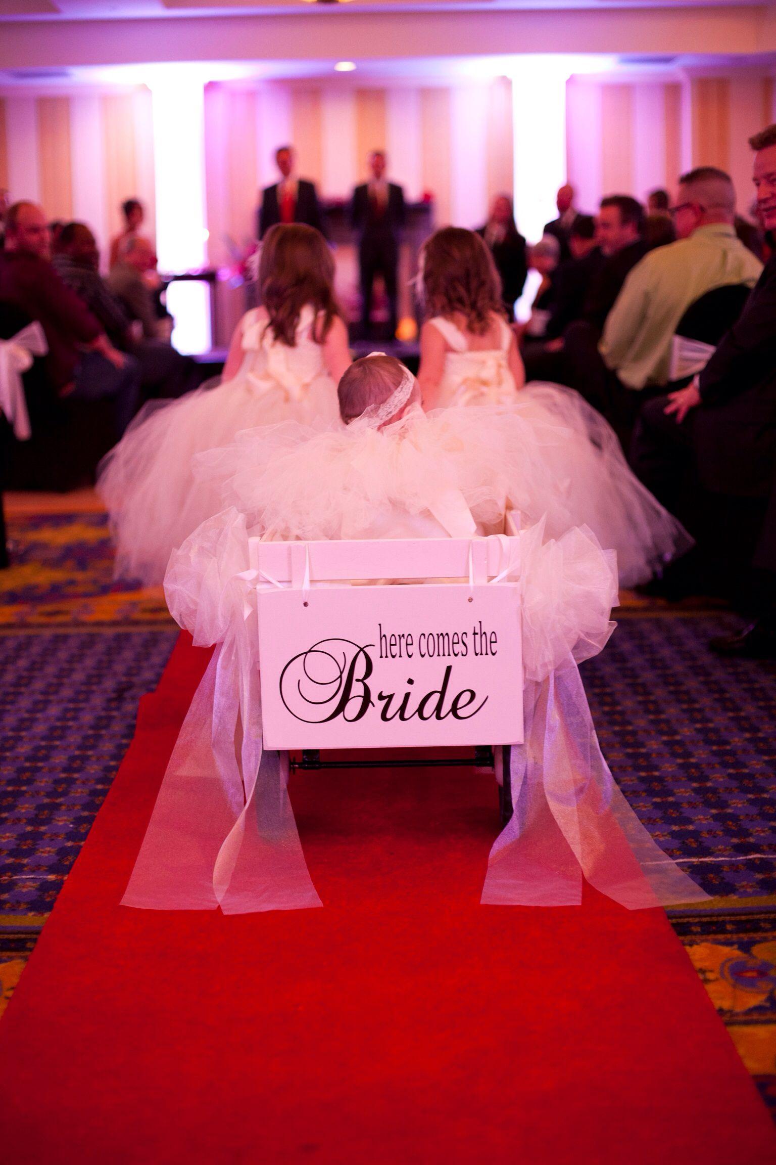 Ring Bearer Wagon | Wagon for wedding, Flower girl wagon ... |Flower Girl Wagon Wedding Party