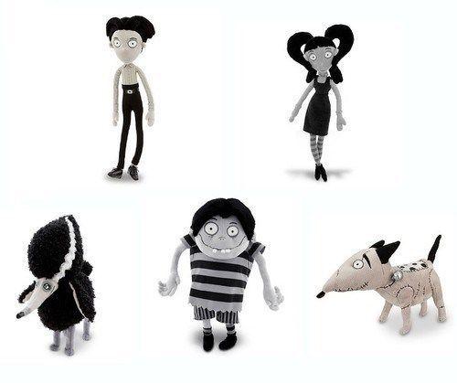 Frankenweenie Sparky Elsa Edgar Victor Persephone Plush Toy Gift Set Tim Burton Disney Plush Plush Dolls Toys Gift