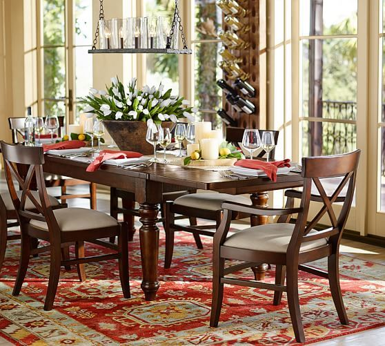 Aaron Wood Seat Chair Pottery Barn Extendable Dining Table