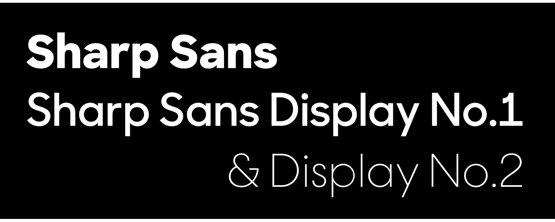 Village: Sharp Sans Display No 1   Typography   Type design