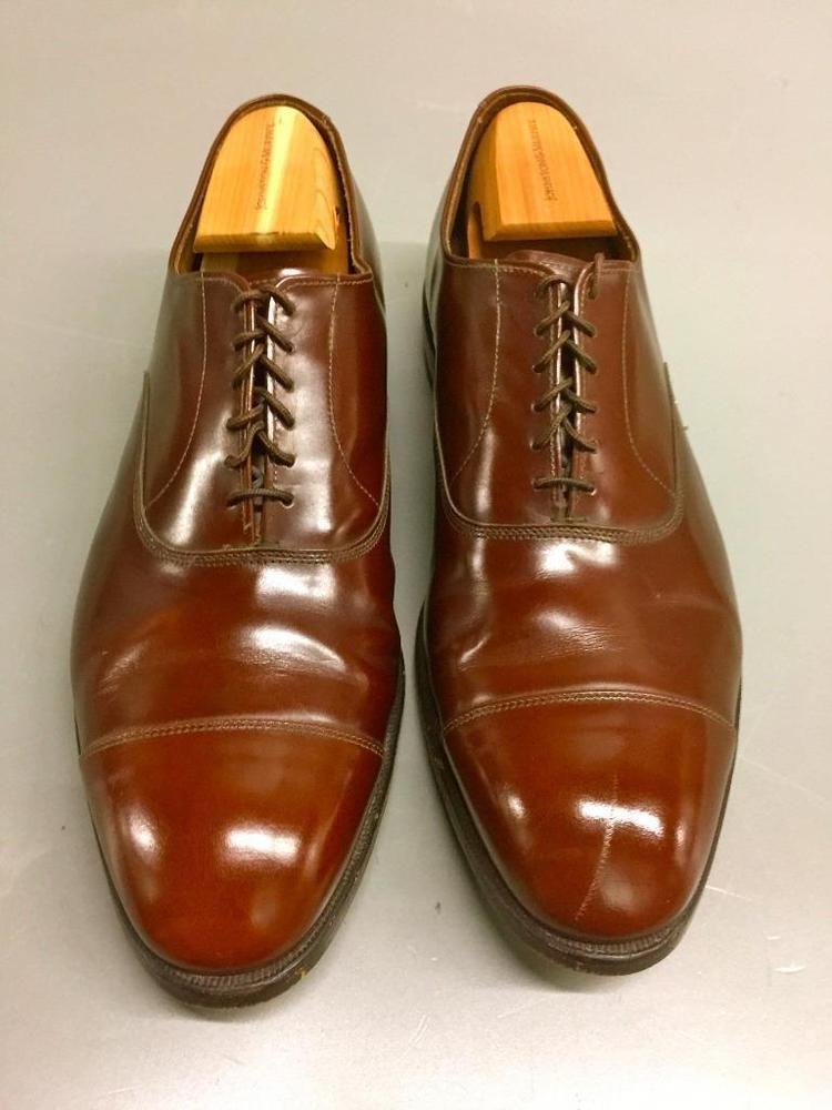 Allen Edmonds Vintage Captoe Brogue Shoes Brown color Size 8.5 E