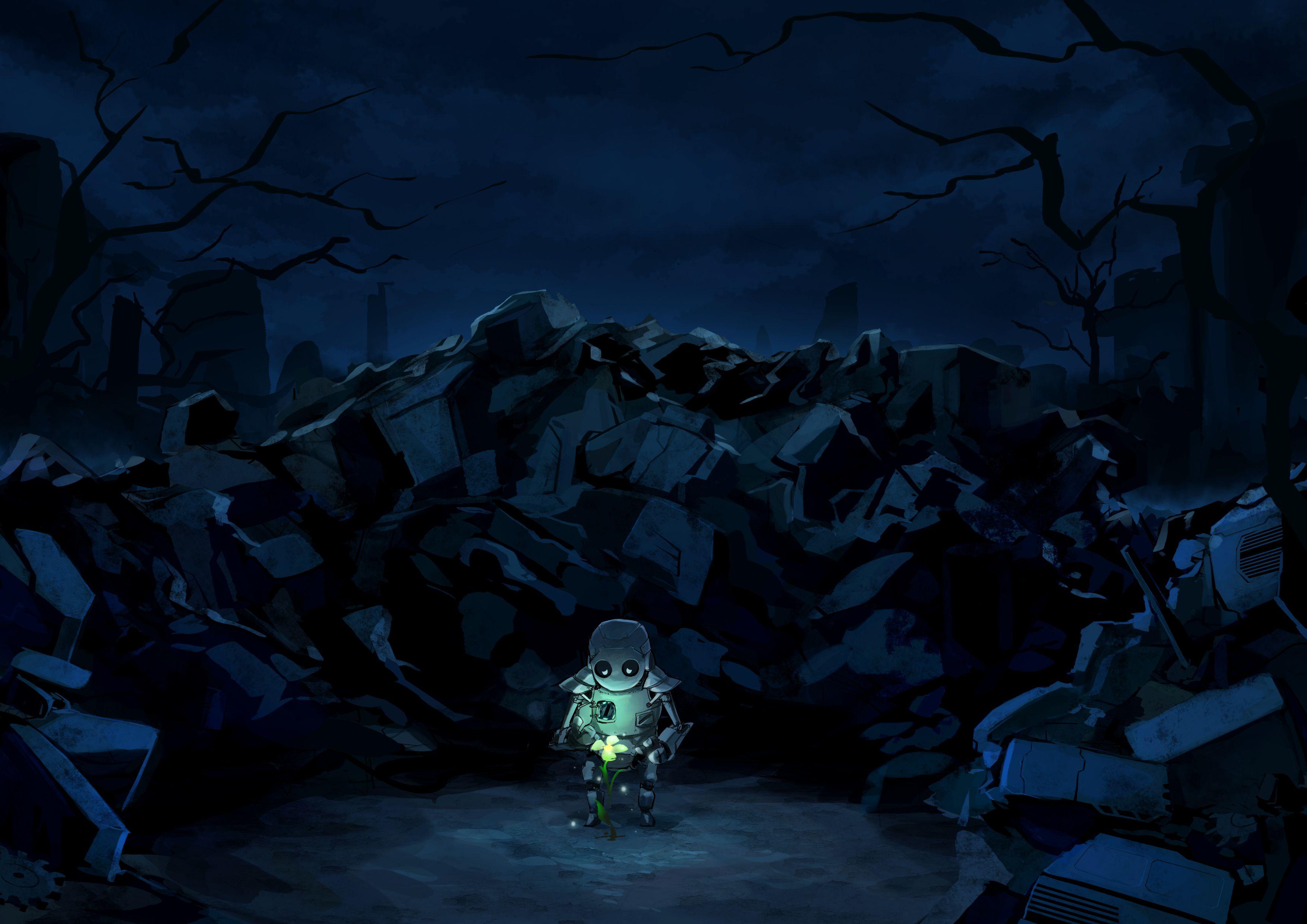 Dark Anime Scenery Wallpaper Desktop Background Scenery