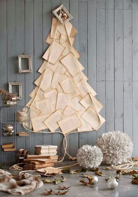 rough luxe 10 Beautiful DIY Book Page Christmas Decorations DESDE MY VENTANA: 16 DÍAS PARA... / 16 DAYS FOR...