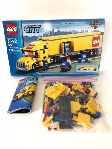 Lego City 3221 Lego Truck Euc With Box Plus Minifigures Instructions