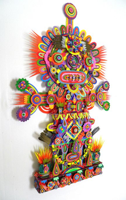 paperwok:    Hand-painted paper sculpture by Michael Velliquette  (via French Paper Sample Room)