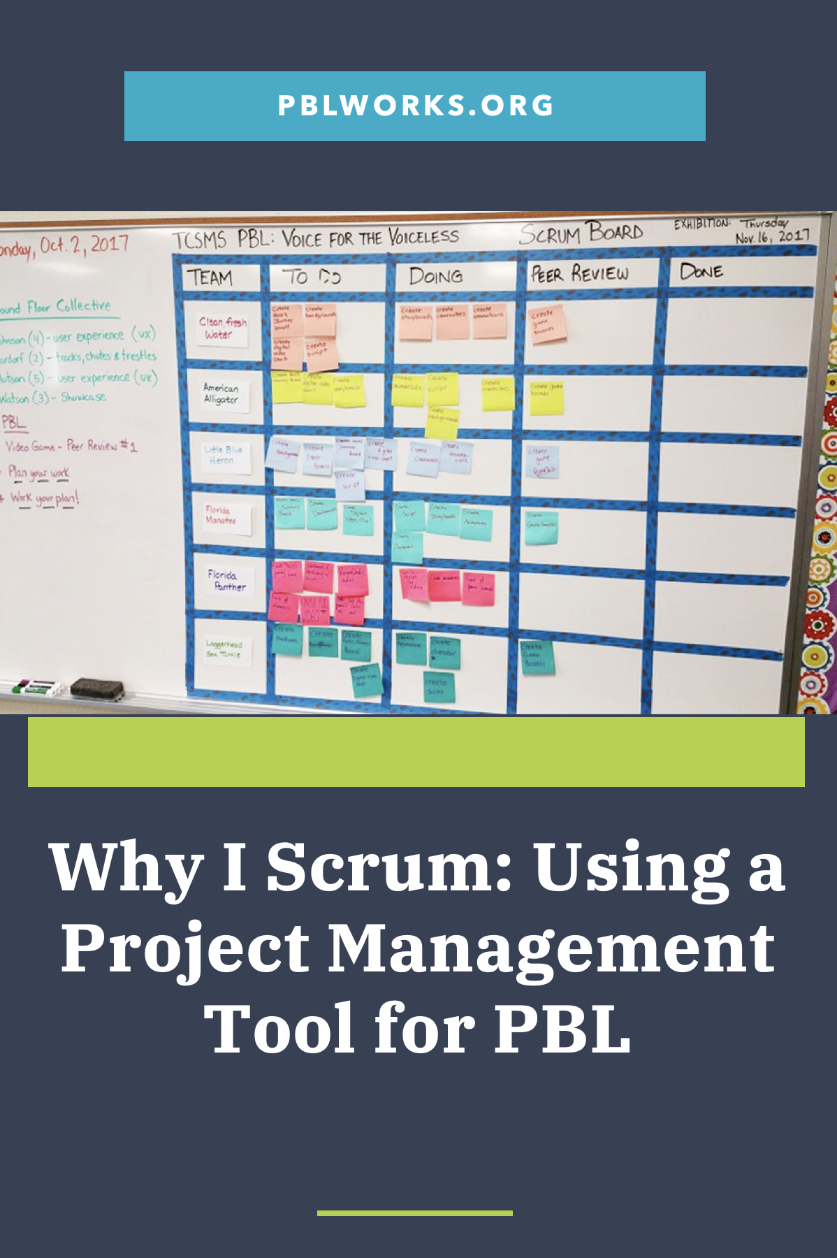 Why I Scrum Using A Project Management Tool For Pbl Project Management Tools Scrum Board Pbl