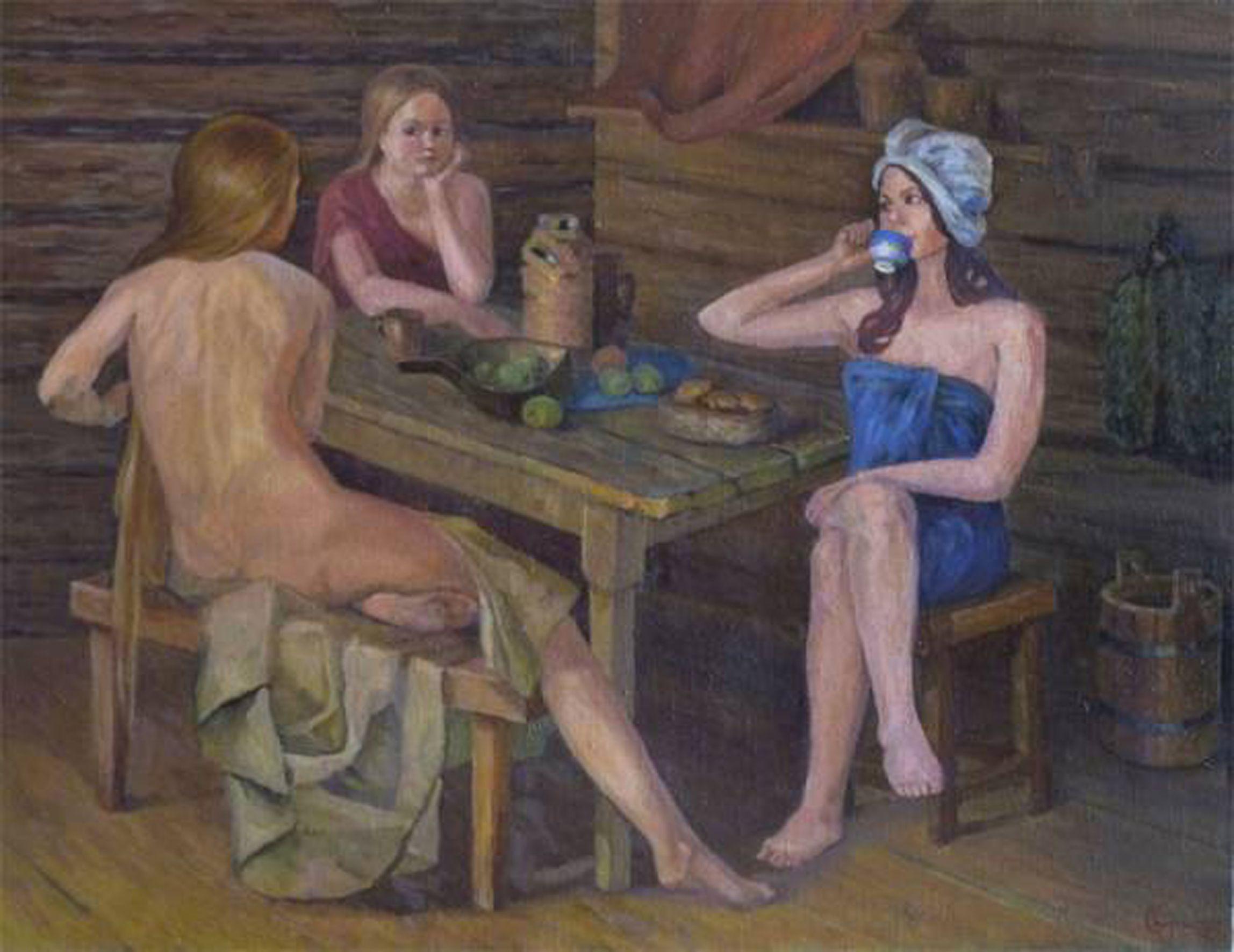 Русские женщины в бане как раз