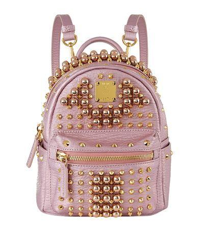 b28aae484ec MCM Stark Pearl Stud Backpack.  mcm  bags  leather  canvas  backpacks