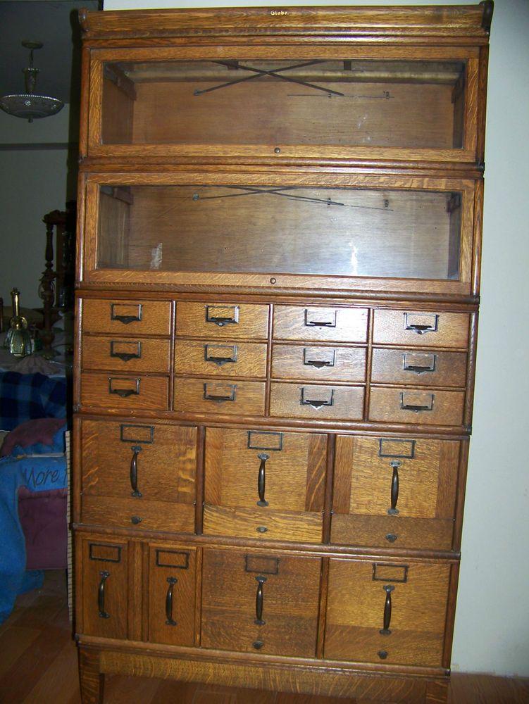 Globe Wernicke File Cabinet And Bookcase