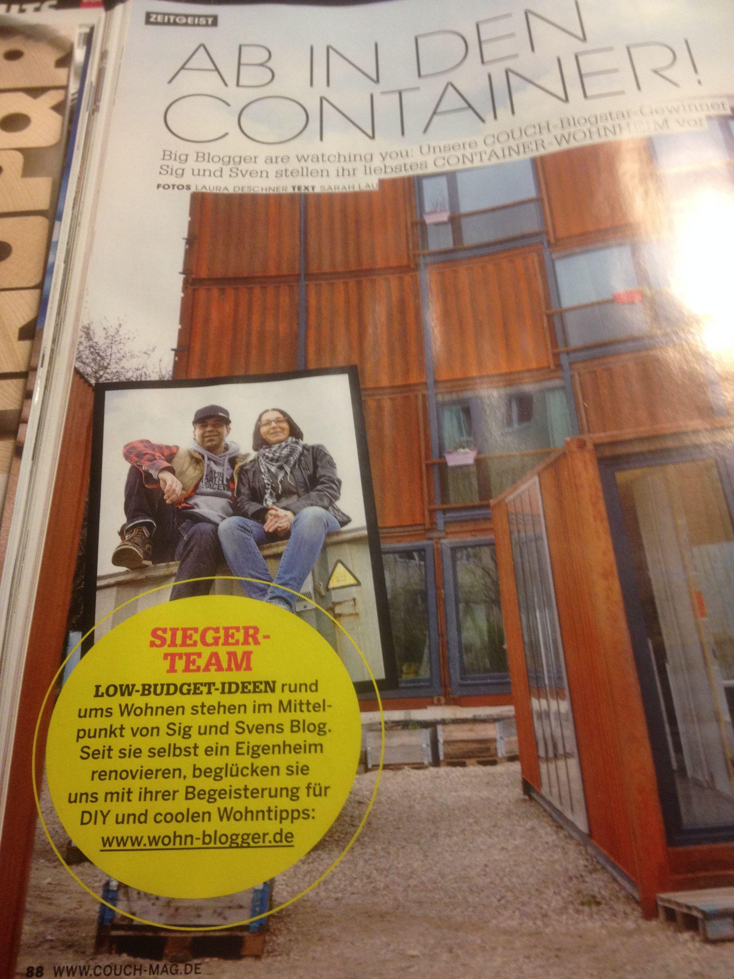 lautet eine Überschrift in der neuesten Ausgabe des Couch Magazins ...