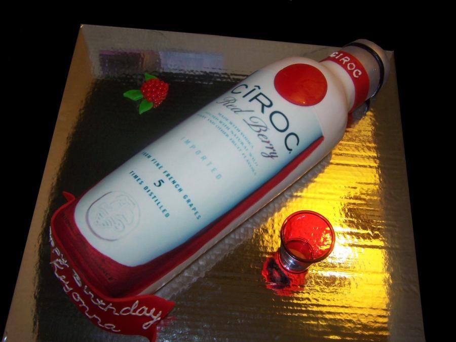 Ciroc Bottle Cake Birthday Cakes Pinterest Bottle Cake Cake